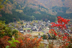 View of the historic village Shirakawa-go royalty free stock image