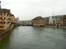 View of historic Zurich city center stock photos