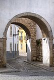 Historical arch in Faro city. View of the Historical arch in Faro city, Portugal Stock Image