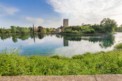 View of the historical castle and spectacular lake of the Garden Royalty Free Stock Photo
