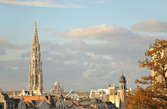 Historical center of Brussels from Mont des Arts Royalty Free Stock Photography