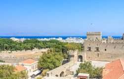 View of the historical center of  Old Town. Rhodes. Greece Stock Photos
