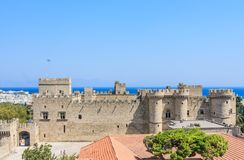 View of the historical center of Old Town. Rhodes. Greece Stock Image