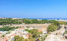 View of the historical center of Old Town. Rhodes.  Greece Stock Photography