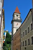 The view of the historical center of Passau. Bavaria, Germany royalty free stock photos
