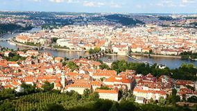 View at the historical center of Prague stock footage