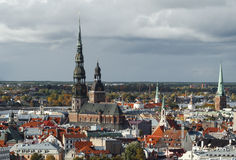 View on historical center of Riga Royalty Free Stock Photography