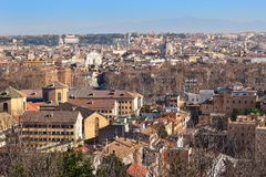 Cityscape of the Rome from the height of the Janiculum Hill Stock Photos