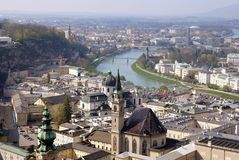 View of historical center of Salzburg, Austria Stock Photos