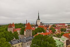 View of historical center of Tallinn, Estonia (UNESCO site) Stock Image