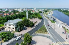 View on historical center of Tyumen. Russia Stock Image