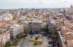 View of historical center of Valencia Royalty Free Stock Photography