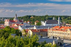Vilnius. Aerial view of the city. stock photos