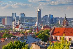 Vilnius. Aerial view of the city. stock images