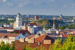 Vilnius. Aerial view of the city. royalty free stock image
