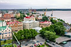 View of the  historical center of Vyborg Stock Images