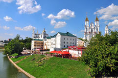 View of historical centre of Vitebsk city Stock Image
