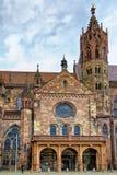 View of The Historical church at Freiburg im Breisgau stock images