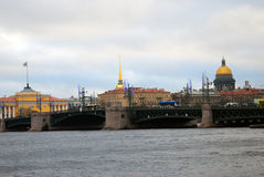 View of historical city center of Saint-Petersburg, Russia. Royalty Free Stock Photos