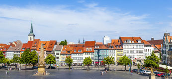 View of the historical city centre of Erfurt, Germany Stock Photos