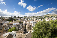 View of the historical city of Granada, Spain. Stock Photography