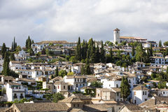 View of the historical city of Granada, Spain. Royalty Free Stock Photos