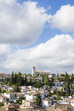 View of the historical city of Granada, Spain. Royalty Free Stock Images