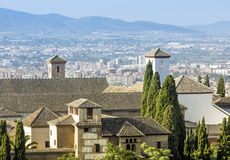 View of the historical city of Granada, Spain Stock Photography