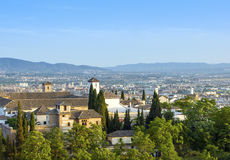 View of the historical city of Granada, Spain Stock Photo