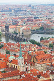 View of the historical districts of Prague Stock Images