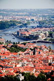 View of the historical districts of Prague Stock Photos