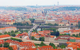 View of the historical districts of Prague Stock Image