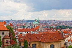 View of the historical districts of Prague Stock Photo