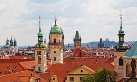 View of the historical districts of Prague Royalty Free Stock Images