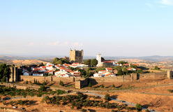 View of the historical fortress Braganca, Portugal. Braganca, a town full of historic associations, is the capital of the Portuguese province Tras-os-Montes ( Royalty Free Stock Images