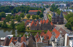 View on historical Lubeck Stock Images
