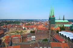View on historical Lubeck Stock Image