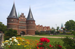 View on historical Lubeck Royalty Free Stock Images