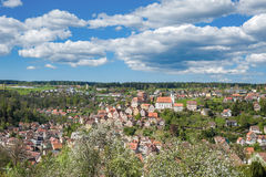 View of the historical old town of Altensteig Stock Image