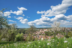 View of the historical old town of Altensteig Royalty Free Stock Photo