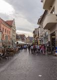 Old Town Center in Braşov. View from the historical old town, city center, in Brasov, Romania Stock Images
