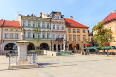 View of the historical part of Bielsko Biala in the summer, sunny day Royalty Free Stock Photography