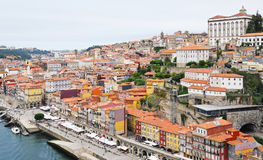 View of historical part of Porto city Stock Image
