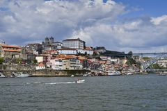 A view of the historical part of Porto stock photos