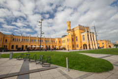 View of the historical railway station in Wroclaw Stock Photo