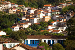 View of the historical town Ouro Preto Brazil Stock Photos