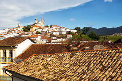 View of the historical town Ouro Preto Brazil Stock Image