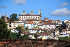 View of the historical town Ouro Preto Brazil Royalty Free Stock Photography