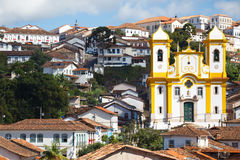 View of the historical town Ouro Preto Brazil Royalty Free Stock Images