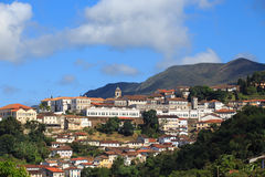 View of the historical town Ouro Preto Brazil Royalty Free Stock Photos